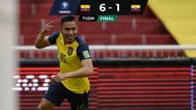 Ecuador humilló a Colombia en Quito y sumó tercer triunfo