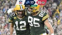 Aaron Rodgers brilló en el triunfo de los Packers ante Lions