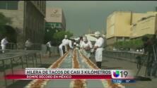 Sólo en México existen 3 kilómetros de tacos
