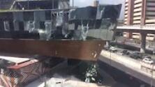 El impresionante momento en el que se derrumba parte de un centro comercial en la Ciudad de México