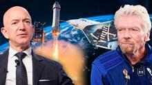 ¿En qué se diferencian las naves espaciales de Jeff Bezos y Richard Branson?