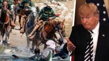 Trump defiende a los agentes fronterizos tras enfrentamientos con migrantes