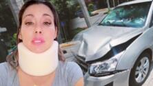 2 meses después del robo en su carro, actriz de 'Hasta el fin del mundo' se quedó sin freno y paró chocando a otro