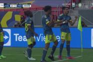 ¡Gol de Colombia! Saque perfecto de Vargas a Díaz y llega el 2-1