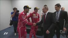 Vladímir Putin felicitó a los ganadores del GP de Rusia