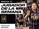 Tras anotar un doblete para LAFC 'Chicho' Arango es Jugador de la Semana
