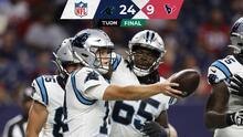 Panthers arrollan a Texans y suman tercera victoria en la campaña