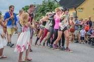 SKANöR, SWEDEN - 2016/06/24: Every year for the last 33 years a Geese Race has been held in Skanör. This is one part of the festivities during the midsummer period when the light from the sun is celebrated throughout Sweden. The race is made by six people on skies, the length of the race is over 700 meters. (Photo by Tommy Lindholm/Pacific Press/LightRocket via Getty Images)