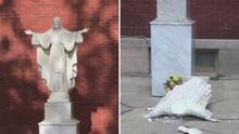 Vandalizan una estatua de Jesús en la parroquia Madre de las Américas en La Villita
