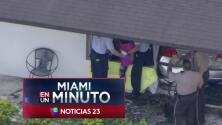 'Miami en un Minuto': Una mujer choca con su vehículo contra una casa en el noroeste de Miami-Dade