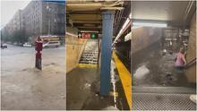 Estaciones del metro bajo el agua y negocios destruidos: imágenes de los estragos de Elsa en Nueva York