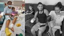 Perdieron brazos y extremidades: El sueño americano termina en tragedia para familia migrante