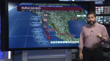 Qué se puede esperar de la llegada del huracán Bud a Baja California