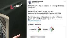 Hacienda pide ayuda a la ciudadanía para embargar Ferrari y un Lamborghini en Puerto Rico