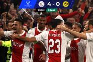 Resumen | Repasón implacable de 4-0 del Ajax ante el Dortmund