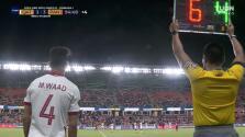 ¿Falta de respeto? Jugador de Qatar entra y no juega ni 5 segundos