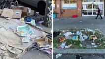 """""""La ciudad no se preocupa por nosotros"""": comunidad de Bushwick denuncia acumulación de basuras en sus calles"""