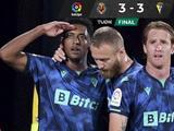 Anthony 'Choco' Lozano marca triplete en empate del Cádiz ante Villarreal