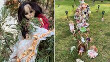 Recrean la Isla de las Muñecas en una casa de Houston durante Halloween