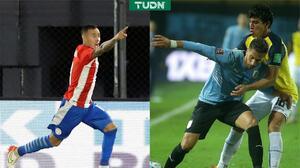 Paraguay y Uruguay rescatan victorias con dramatismo puro