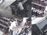 Empleada trata de impedir el robo de varios jeans de una tienda en la calle Gessner en Houston