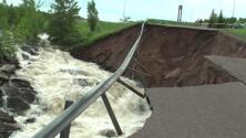 Inundaciones repentinas en Michigan destruyen caminos, causan daños históricos