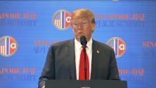 Trump asegura que las sanciones a Corea del Norte continuarán mientras haya armas nucleares