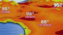 Condiciones cálidas le esperan a Los Ángeles durante la tarde de este martes