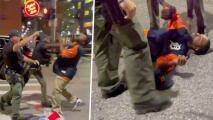 Video muestra a oficial de policía noqueando a hombre desarmado