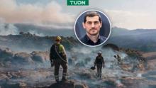 ¡Grande! Iker ayuda en labores de extinción de incendio en España