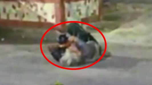 Una mujer grita desesperada en la calle porque unos narcos le cortaron los dedos