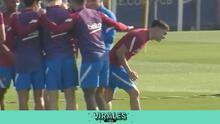 Jugadores del Barça celebran renovación de Pedri