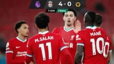 El Liverpool aplastó al Wolverhampton en homenaje a Raúl Jimémez