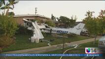 Avioneta se estrella contra un garaje en el que vivían personas en San José