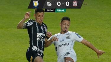 A ninguno le sirvió: Santos y Corinthians empataron sin goles
