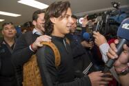 Diego Lainez es despedido en el aeropuerto y envía un mensaje a la afición americanista