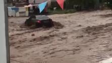 Muere una mujer atrapada en su vehículo en las inundaciones de Nogales, México