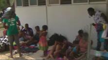 Activistas ofrecen insumos y ayuda a migrantes haitianos en Ciudad Acuña, México