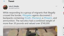 Patrulla Fronteriza decomisa drogas en dos mochilas en Nogales