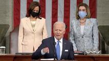 Momento histórico: por primera vez un presidente de EEUU da el discurso en el Congreso con dos mujeres tras él