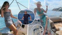 """""""Dándole vuelo a la vida"""": Gloria Trevi y Aracely Arámbula se pegan una escapadita en yate"""