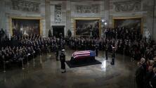 Así fue el homenaje en la Rotonda del Capitolio al expresidente George Bush padre