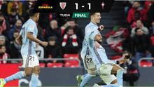 Con Néstor Araujo, el Celta empató con el Athletic de Bilbao