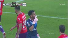 Rodríguez iba a hacer un golazo pero Gallese se lo impide