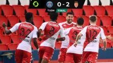 Mónaco se impuso al PSG de Mbappé y se aprieta la tabla de la Ligue 1
