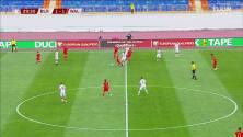 ¡GOL!  anota para Bielorrusia. Pavel Sedko