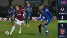 Chicharito y West Ham son eliminados de la Copa por equipo de tercera