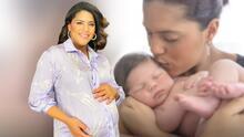El bebé de Francisca no tiene ni un mes y ya posa para la cámara como un profesional
