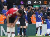 Leicester City remonta y golea al Manchester United en regreso de Rashford