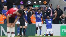 ¡Partidazo! Leicester remonta y golea al United en regreso de Rashford